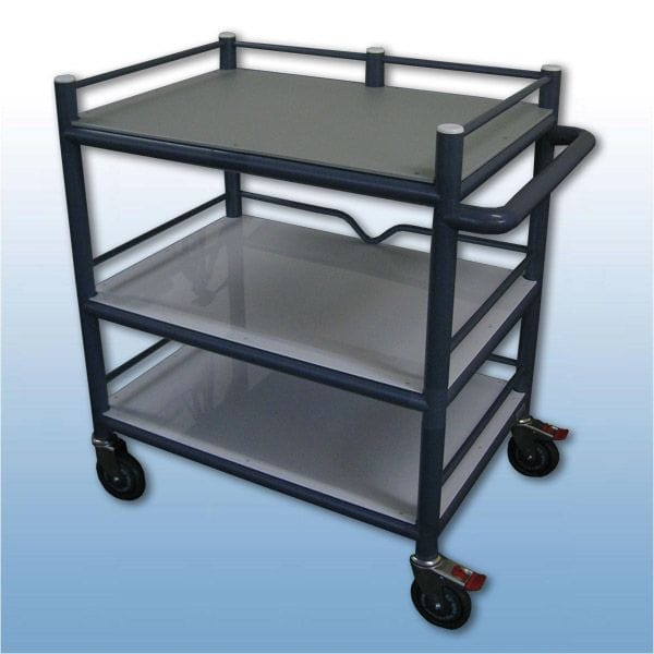 Multi-Purpose Trolley 3 x shelf + 3 x Guard rails