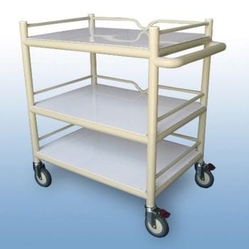 Multi-Purpose Trolley 3 shelf with Guard rails