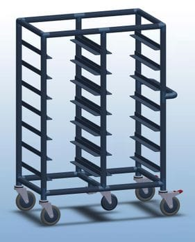 Double Bay 14 x tray service trolley