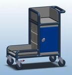lockable cleaners Trolley