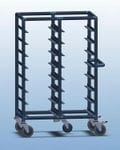 Double Bay 16 x Tray service trolley with open top