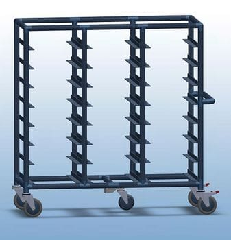 Triple Bay 24 x Tray service trolley