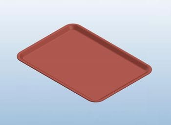 Red Dietary Tray