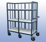 Medium Coral Laundry Trolley