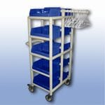 10 Tub Compact Laundry Trolley
