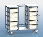 20 Tub Personal Linen Trolley Static Hanger