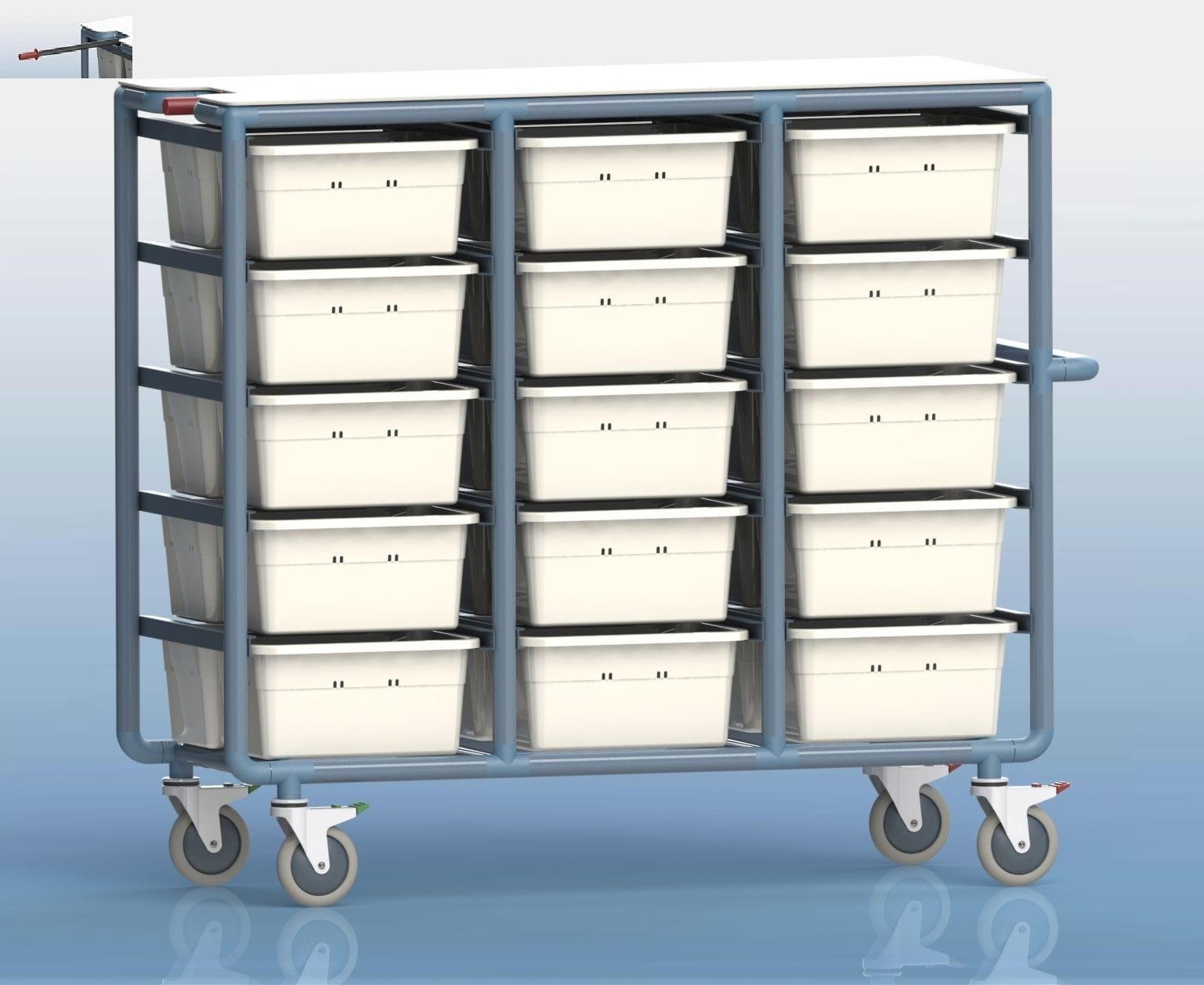 30 Tub Personal Linen Trolley