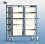20 Tub Personal Linen Trolley