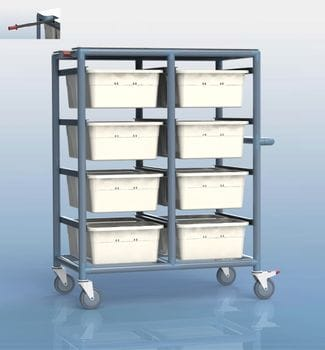 16 Tub Personal Linen Trolley