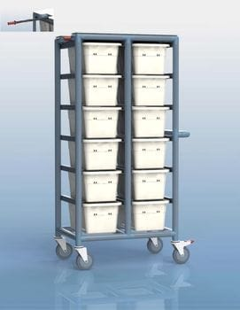 12 Tub Personal Linen Trolley