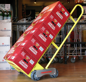 The rotatruck is the only self supporting hand truck featuring rotacasters, the only multidirectional floor wheel. The rotatruck improves productivity and safety while enhancing multidirectional movement capabilities.