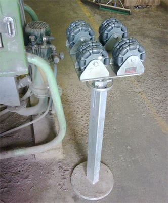 Pipe roller using Rotacaster 125mm Quad Multi-directional wheels