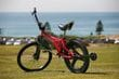 Dogg\'s innovative use of the rotacaster omniwheel allows riders to perform stunts with confidence.