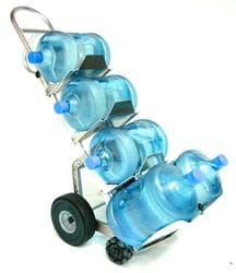 Bottled Water Rotatruck, Alum, FF250/R3, Ext Vert loop handle, straight back frame, cast toe (356x30