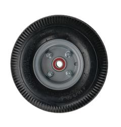 "Wheel, 250mm (10"") foam pneumatic with three piece offset hub and 5/8"" premium bearing"