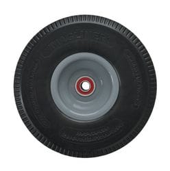 """Wheel, 250mm (10"""") Foam filled rubber with 5/8"""" premium bearing (1010)"""