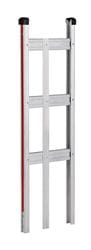 Frame, Alum, Straight Back frame with vert strap for flush mount toe,