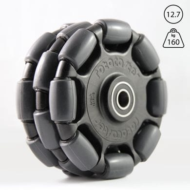 Rotacaster 125mm Triple, 85A polyurethane, 12.7mm sealed bearing