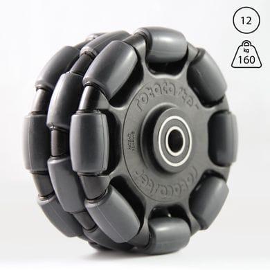 Rotacaster 125mm Triple, 85A polyurethane, 12mm sealed bearing