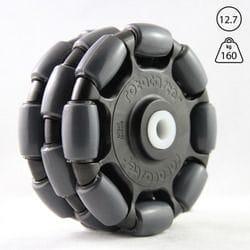 """Rotacaster 125mm Triple, 95A polyurethane, 12.7mm(1/2"""") Nylon bushing"""