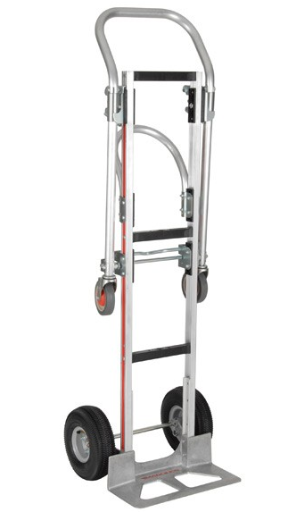 Handtruck, Gemini Sr, convertible truck, tall for bulk container