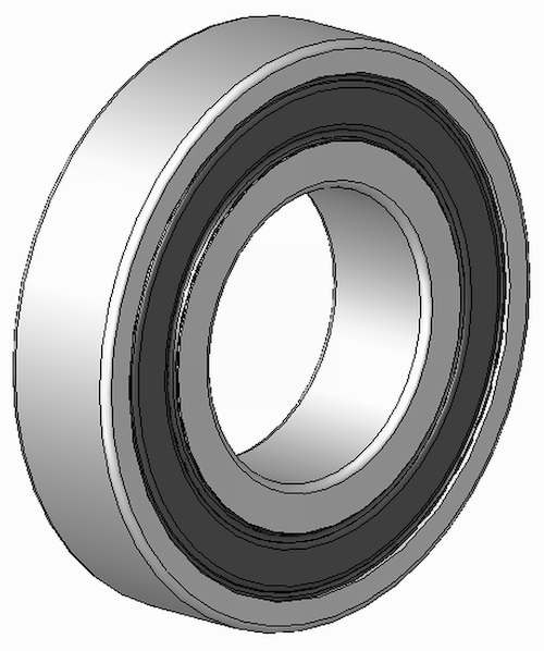 Bearing, M5/8, Premium semi-precision sealed ball bearing - red (2 per wheel required)