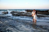 Adam & Mia Engagement Photos Currumbin rocks