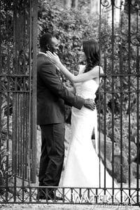 Jana & Dom by the gates at Ecostudio Fellini