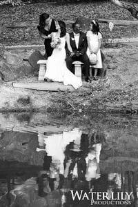 Jana & Dom - Group photos by the pond