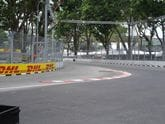 Fixtech Fix190FWT bonding the rubber curbing  at the Singapore F1 Grand Prix.